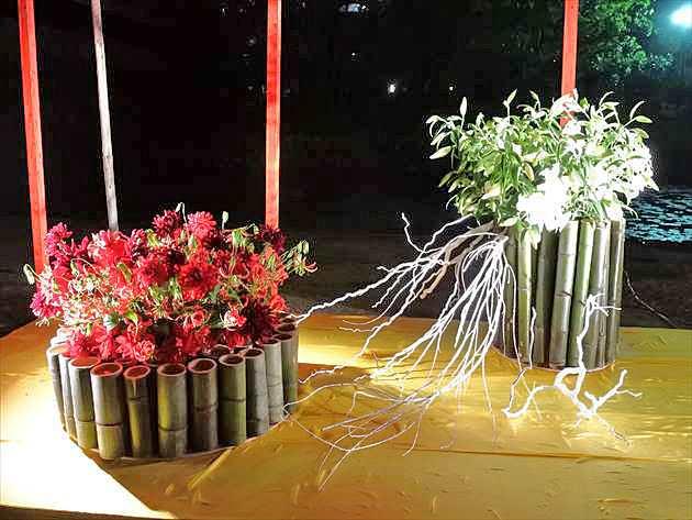 嵯峨御流 平成29年度 高知城花回廊の大作の写真